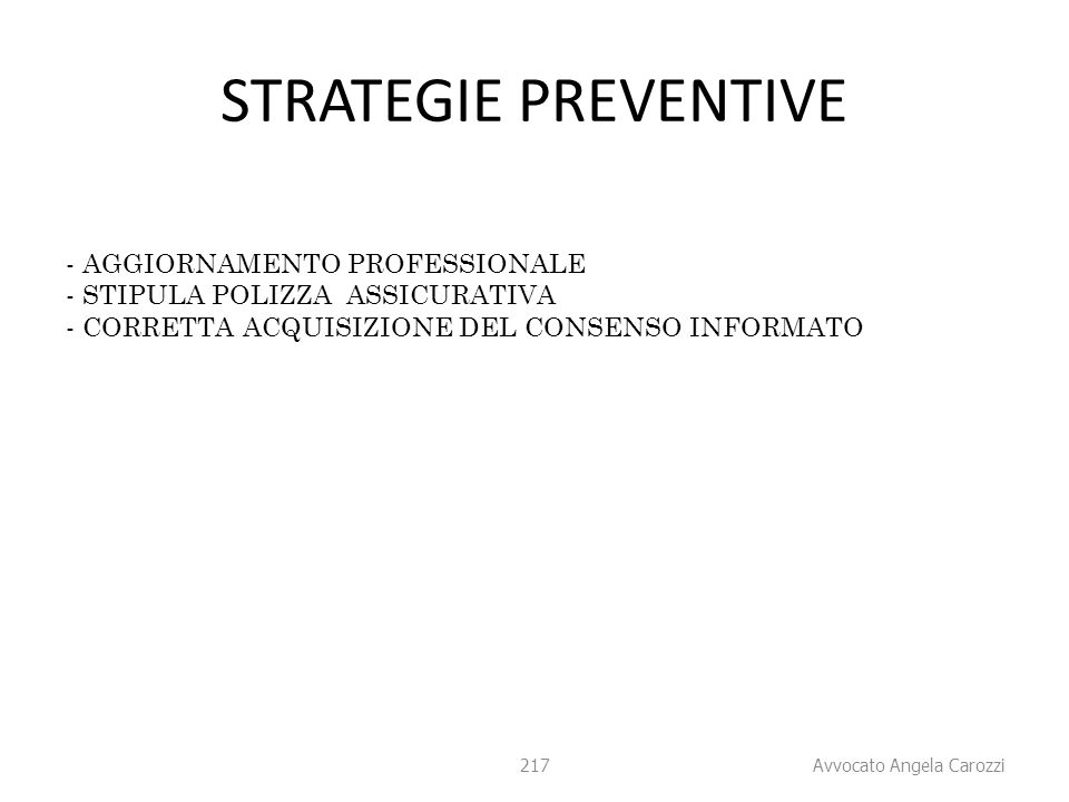 STRATEGIE PREVENTIVE AGGIORNAMENTO PROFESSIONALE
