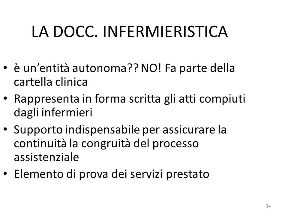 LA DOCC. INFERMIERISTICA