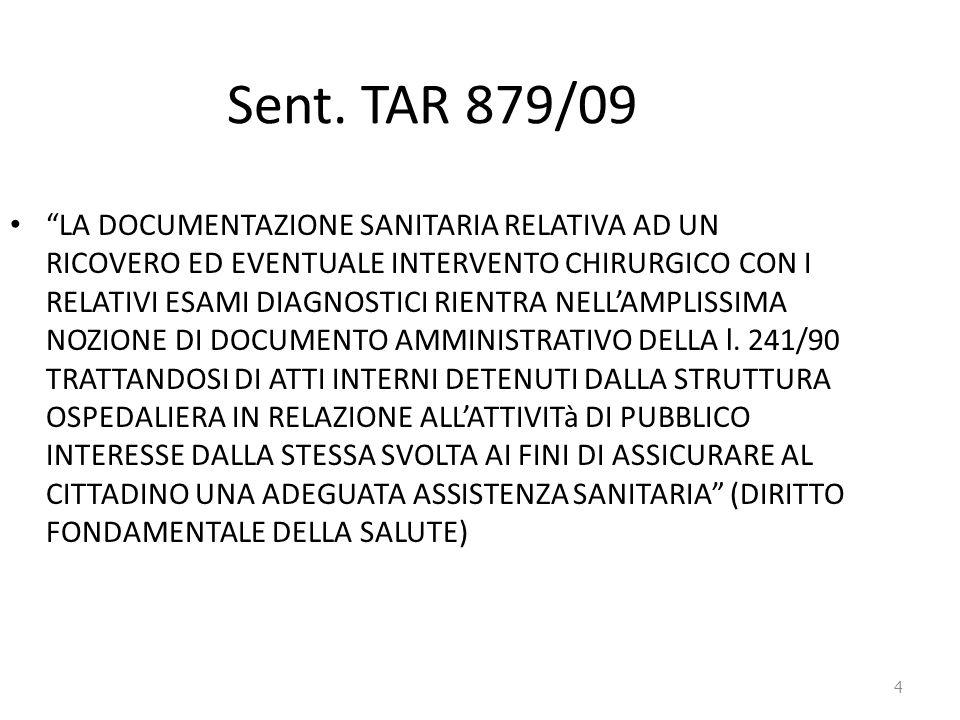 Sent. TAR 879/09