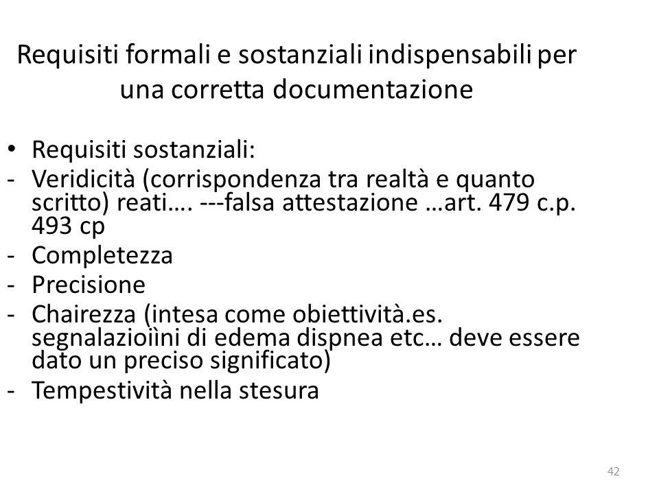 Requisiti formali e sostanziali indispensabili per una corretta documentazione