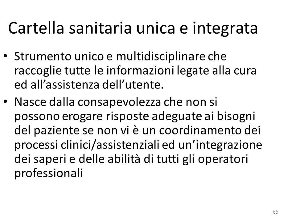 Cartella sanitaria unica e integrata