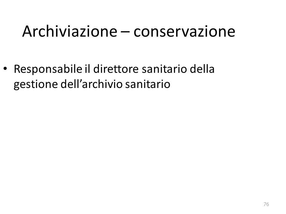 Archiviazione – conservazione