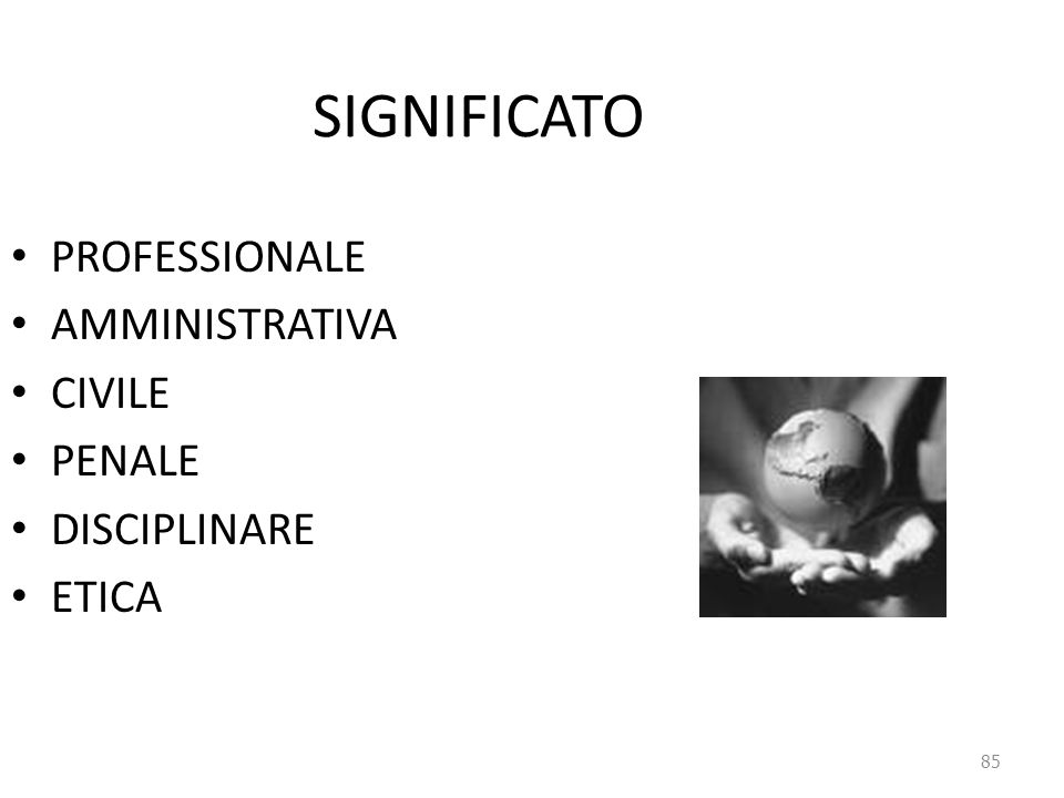 SIGNIFICATO PROFESSIONALE AMMINISTRATIVA CIVILE PENALE DISCIPLINARE
