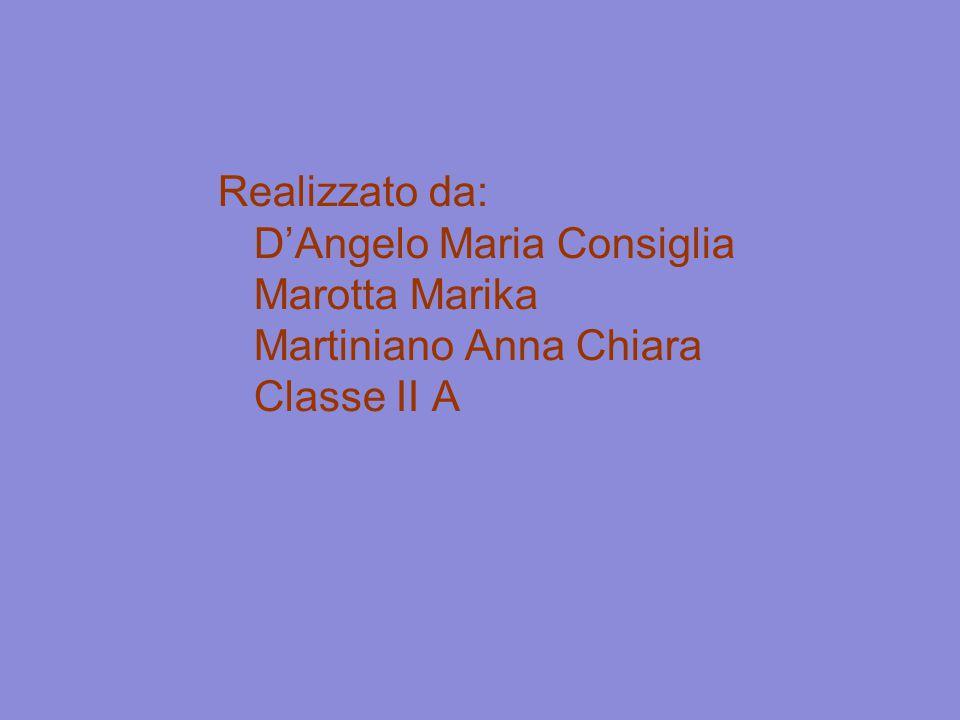 Realizzato da: D'Angelo Maria Consiglia Marotta Marika Martiniano Anna Chiara Classe II A