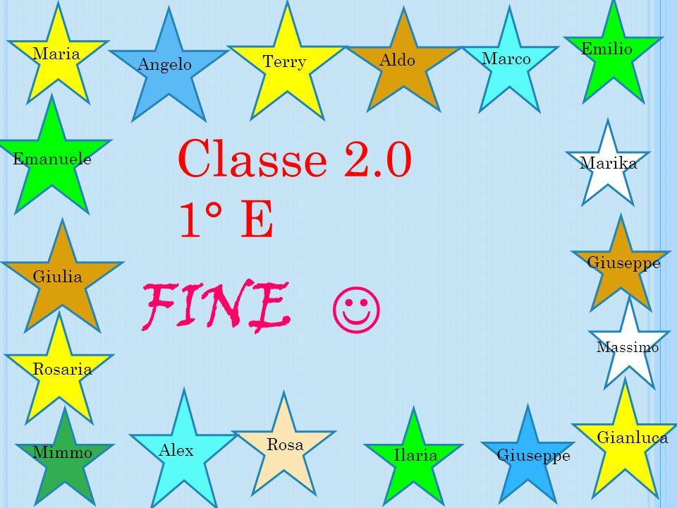  FINE Classe 2.0 1° E Emilio Maria Angelo Terry Aldo Marco Emanuele