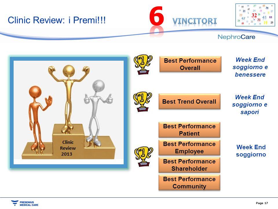 6 Clinic Review: i Premi!!! vincitori Week End soggiorno e benessere