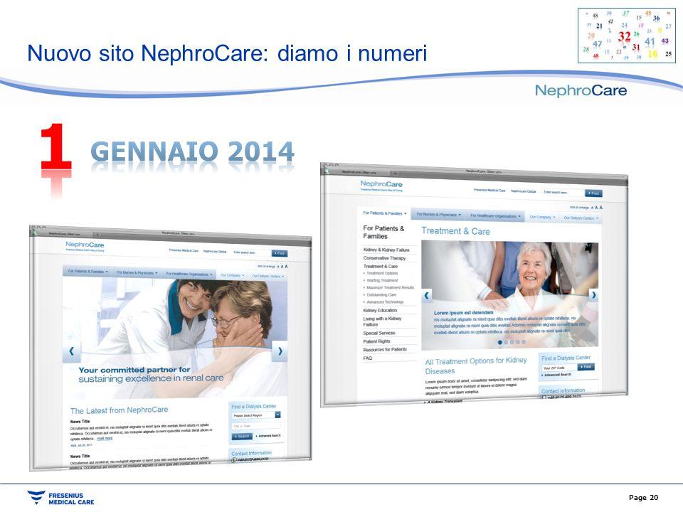 Nuovo sito NephroCare: diamo i numeri