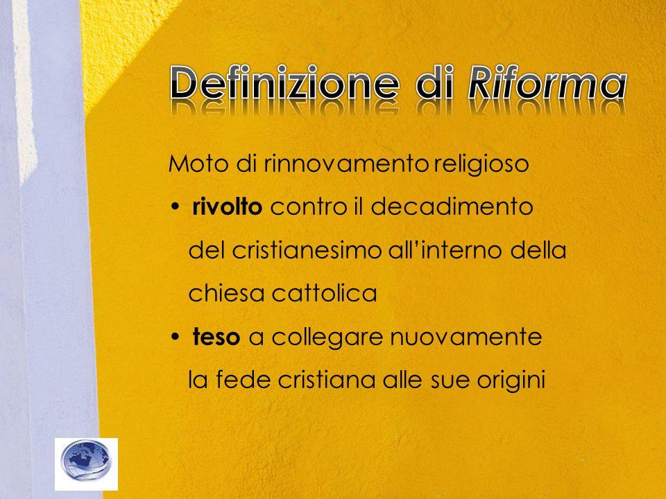 Definizione di Riforma