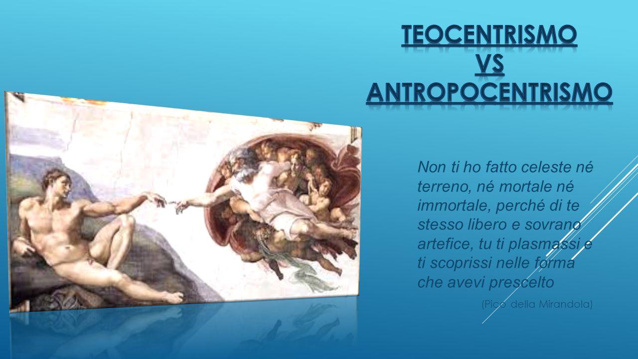 Teocentrismo vs Antropocentrismo
