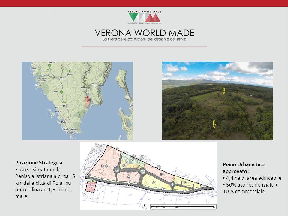 Piano Urbanistico approvato : 4,4 ha di area edificabile