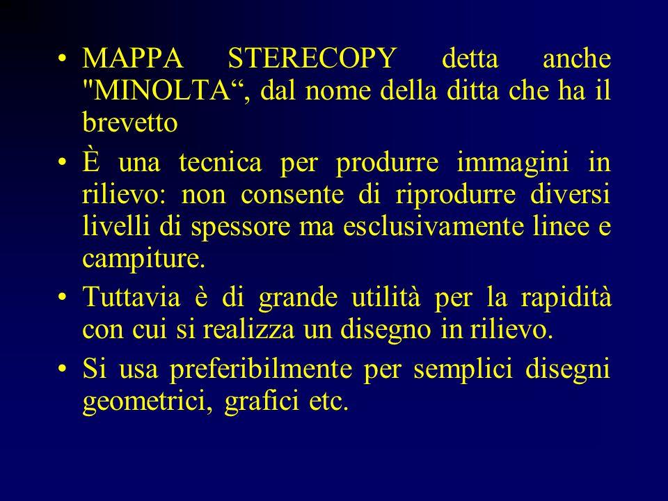 MAPPA STERECOPY detta anche MINOLTA , dal nome della ditta che ha il brevetto