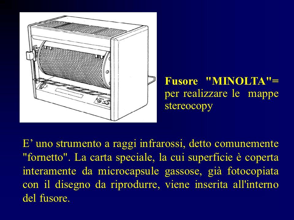 Fusore MINOLTA = per realizzare le mappe stereocopy