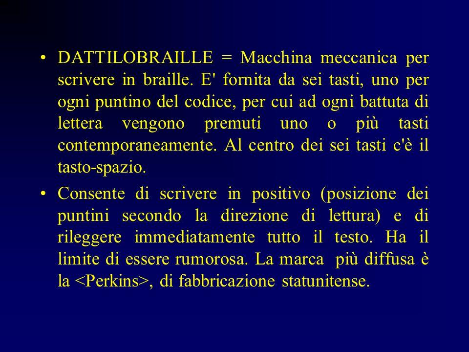 DATTILOBRAILLE = Macchina meccanica per scrivere in braille