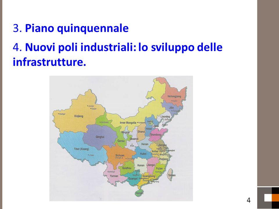 4. Nuovi poli industriali: lo sviluppo delle infrastrutture.