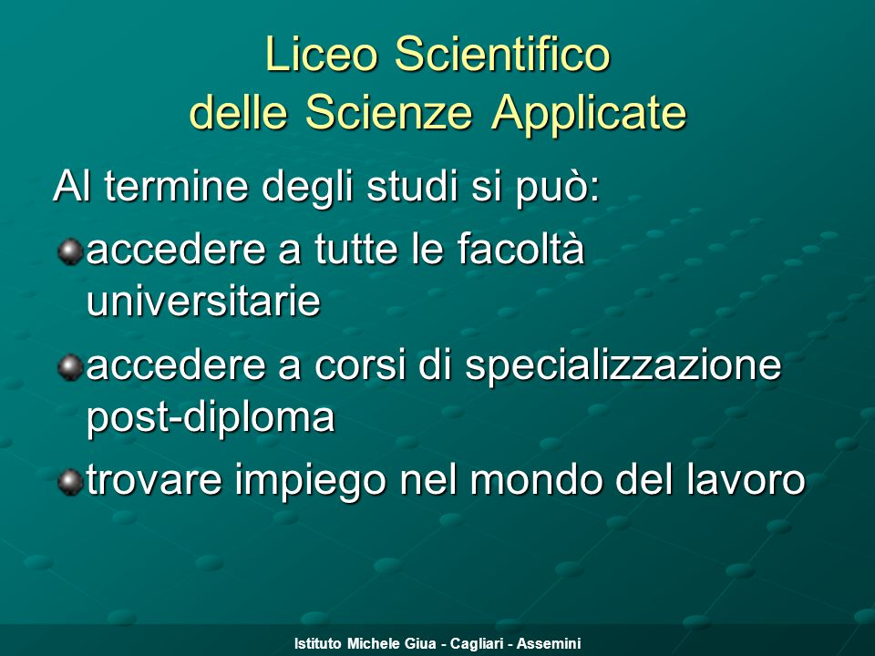 Liceo Scientifico delle Scienze Applicate