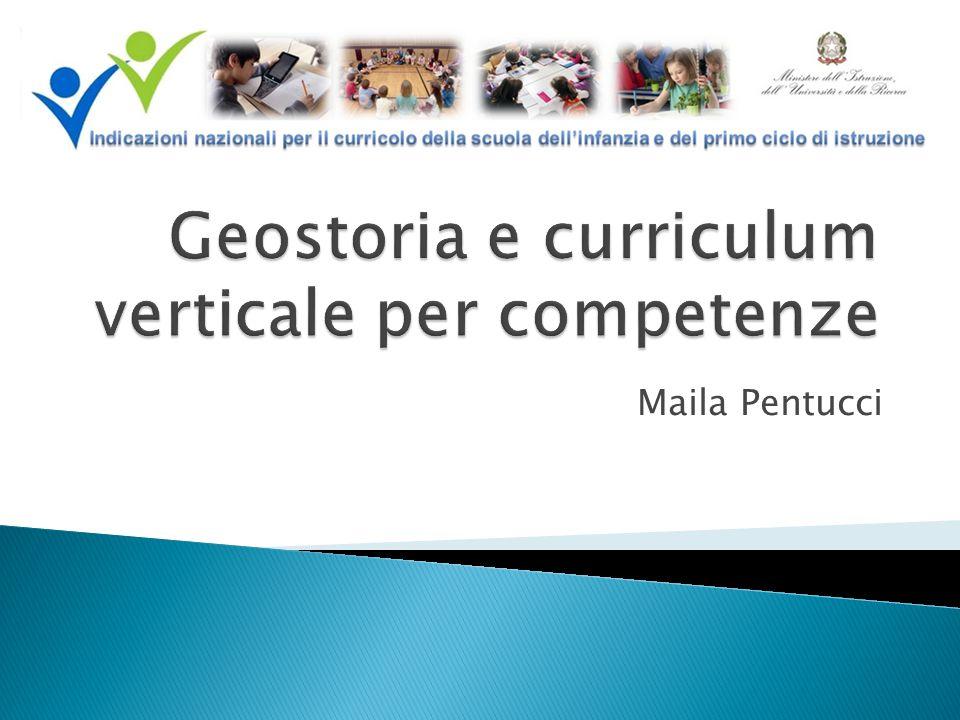 Geostoria e curriculum verticale per competenze