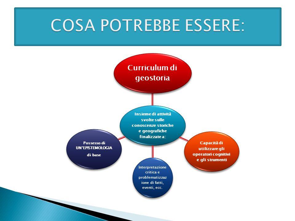 COSA POTREBBE ESSERE: Curriculum di geostoria