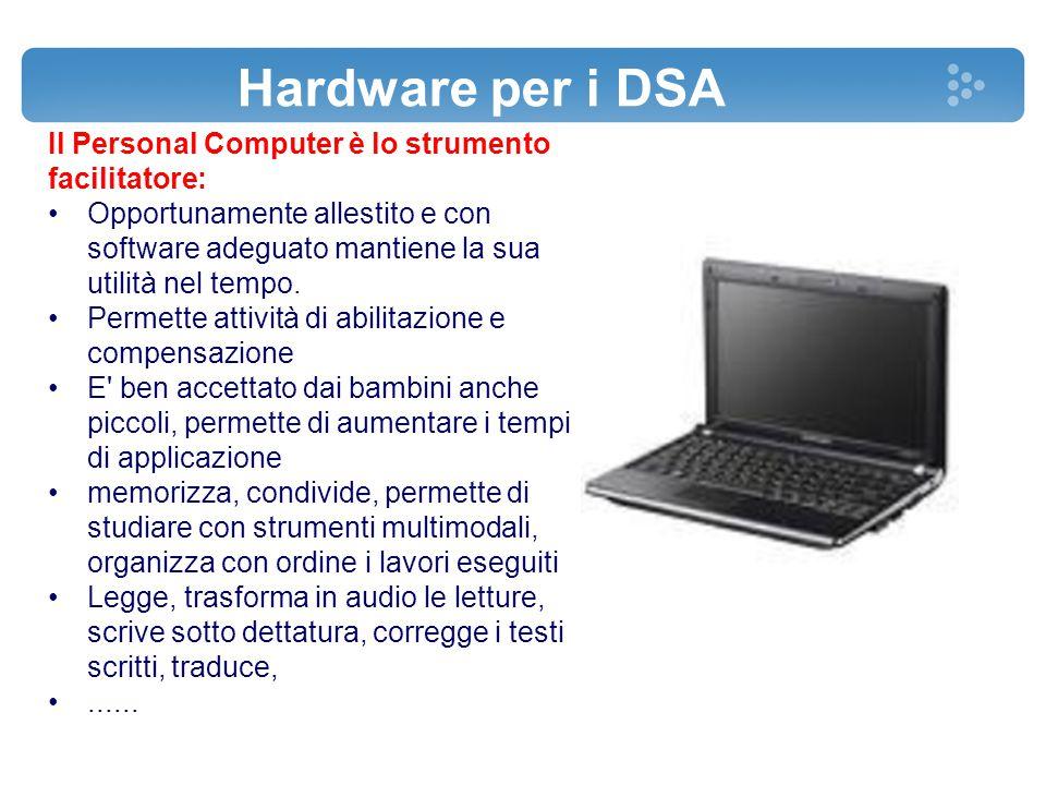 Hardware per i DSA Il Personal Computer è lo strumento facilitatore: