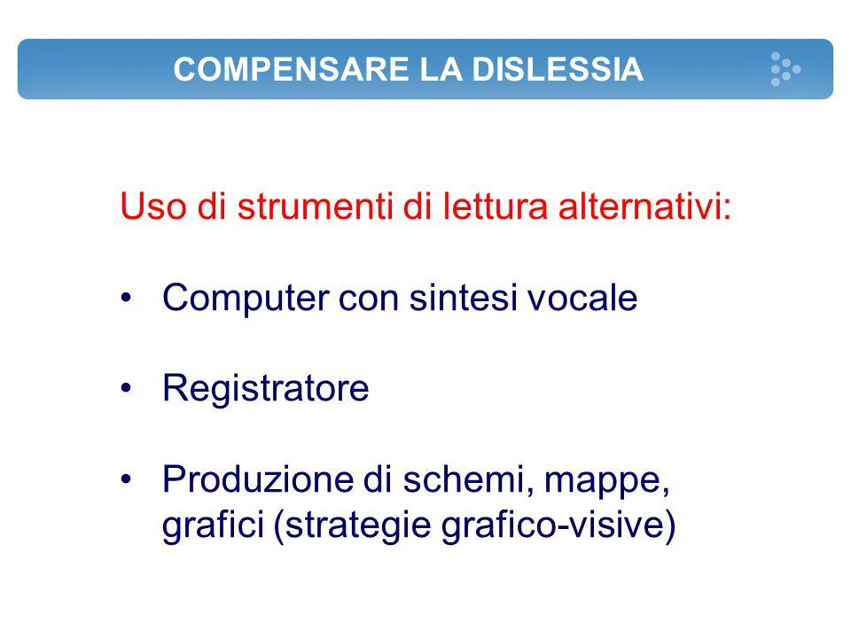 Uso di strumenti di lettura alternativi: Computer con sintesi vocale