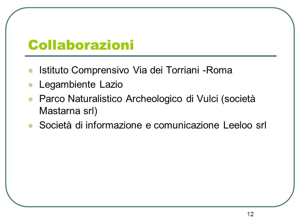 Collaborazioni Istituto Comprensivo Via dei Torriani -Roma