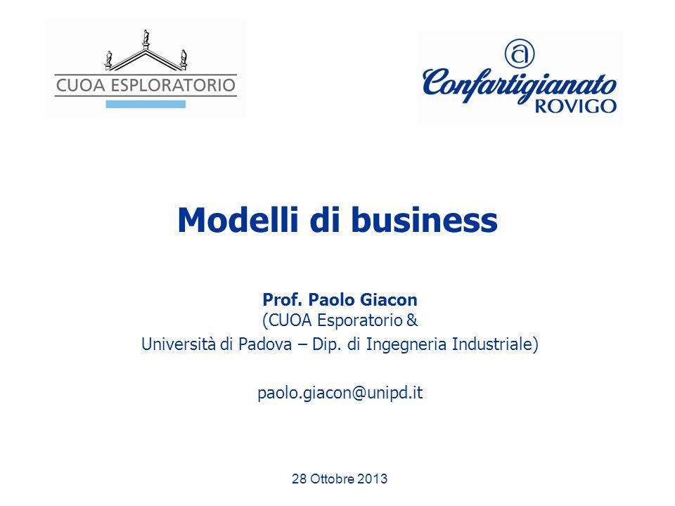 Modelli di business Prof. Paolo Giacon (CUOA Esporatorio &