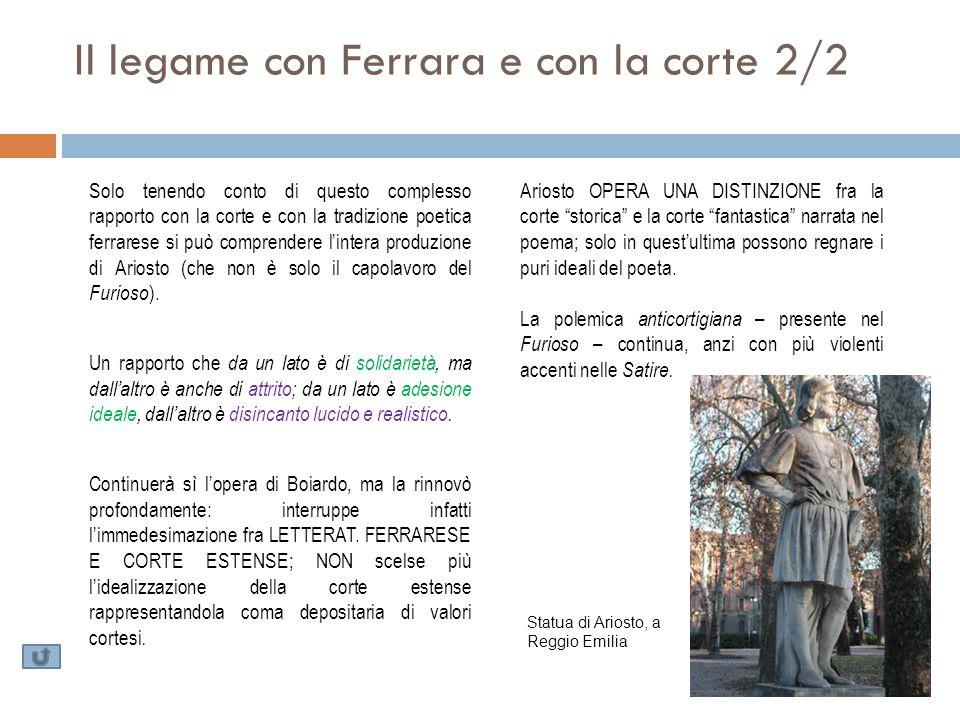Il legame con Ferrara e con la corte 2/2