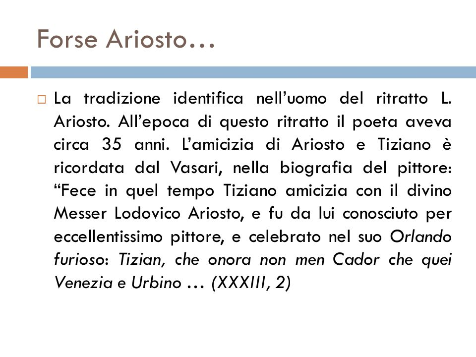 Forse Ariosto…