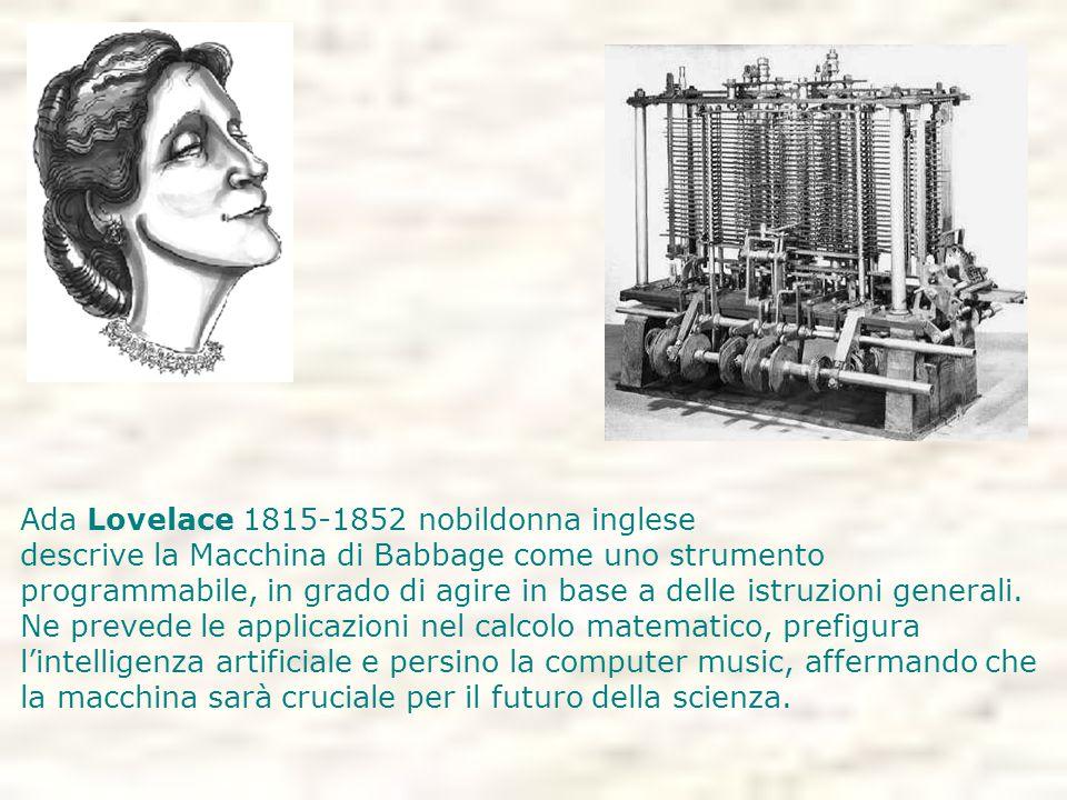 Ada Lovelace 1815-1852 nobildonna inglese