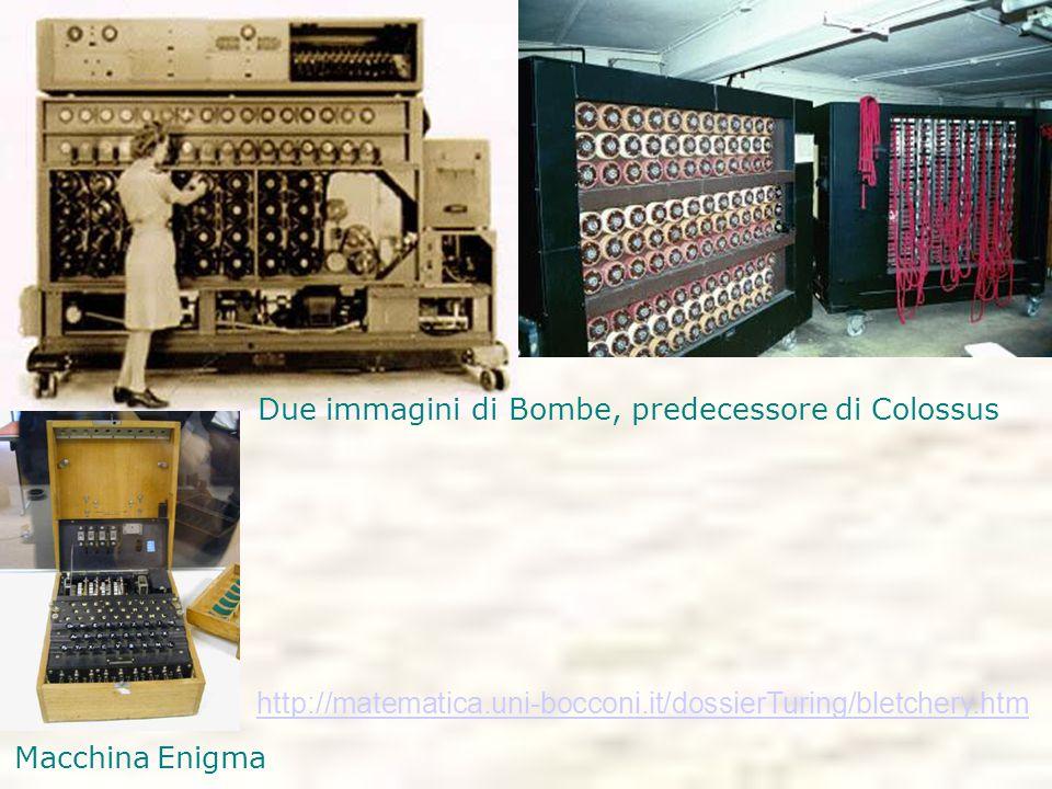 Due immagini di Bombe, predecessore di Colossus