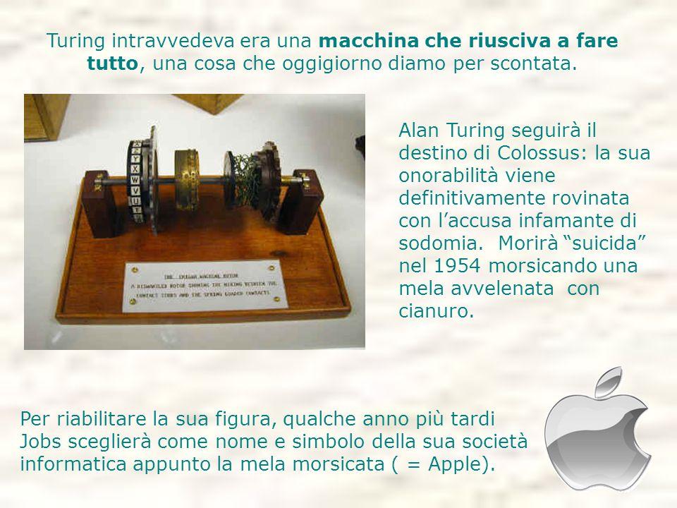 Turing intravvedeva era una macchina che riusciva a fare tutto, una cosa che oggigiorno diamo per scontata.