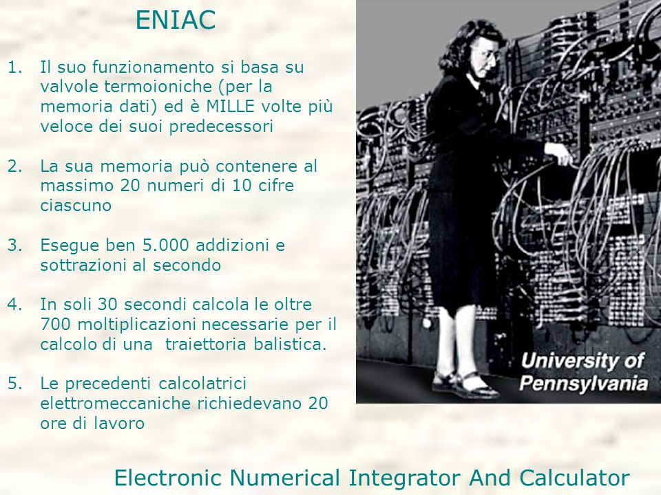 Electronic Numerical Integrator And Calculator