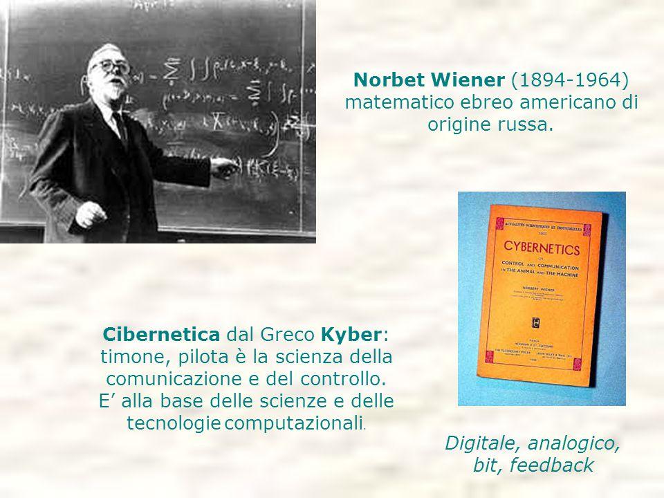 Norbet Wiener (1894-1964) matematico ebreo americano di origine russa.