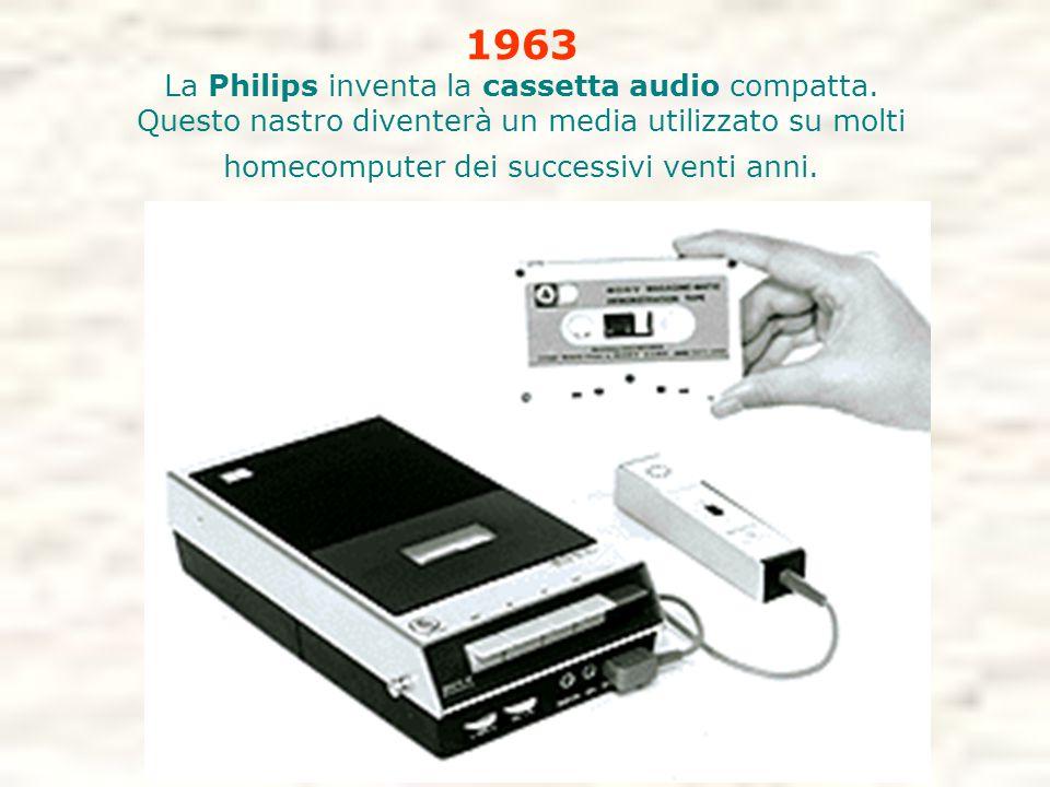 La Philips inventa la cassetta audio compatta.