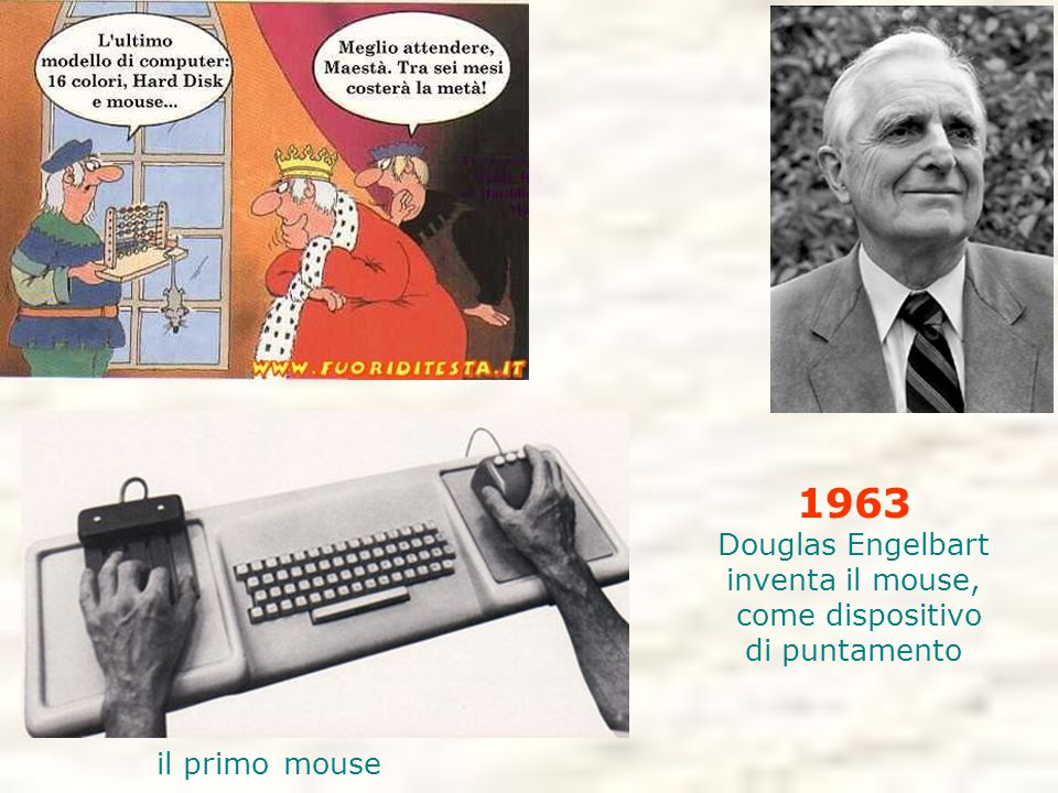 1963 Douglas Engelbart inventa il mouse, come dispositivo