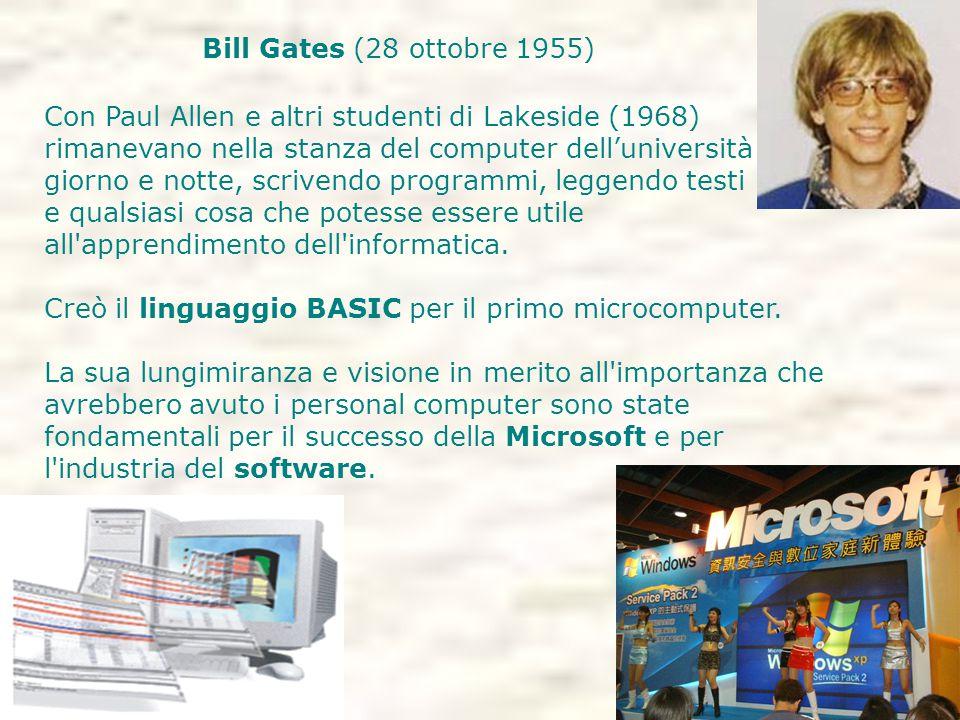 Bill Gates (28 ottobre 1955)