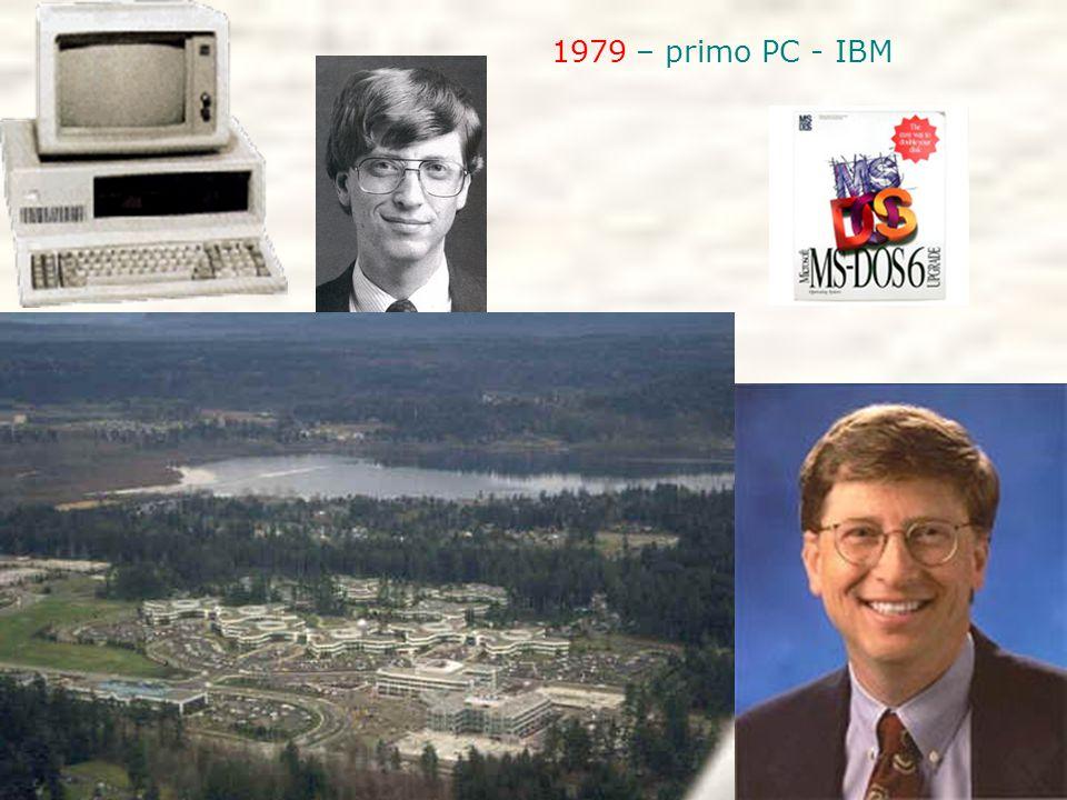 1979 – primo PC - IBM