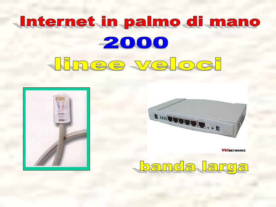 Internet in palmo di mano