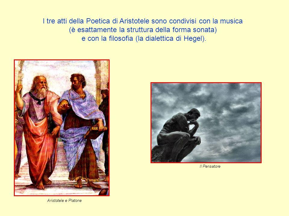 I tre atti della Poetica di Aristotele sono condivisi con la musica