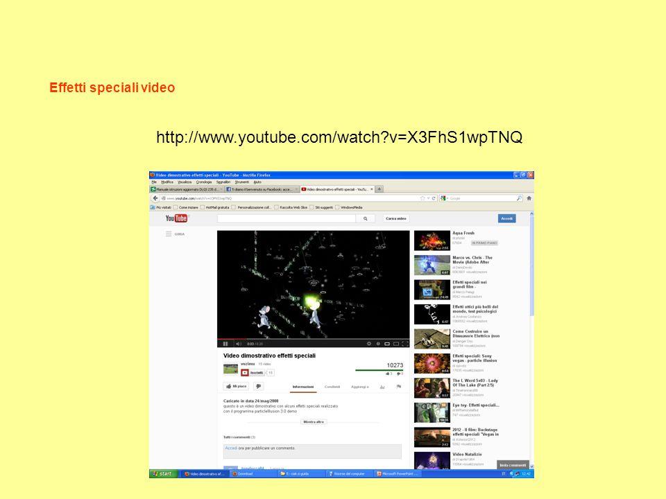 Effetti speciali video