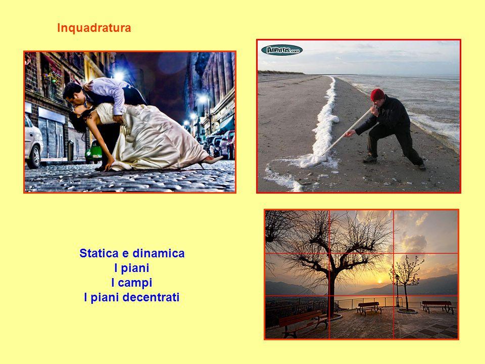 Inquadratura Statica e dinamica I piani I campi I piani decentrati