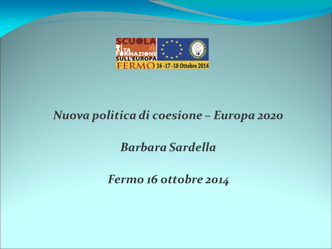 Nuova politica di coesione – Europa 2020