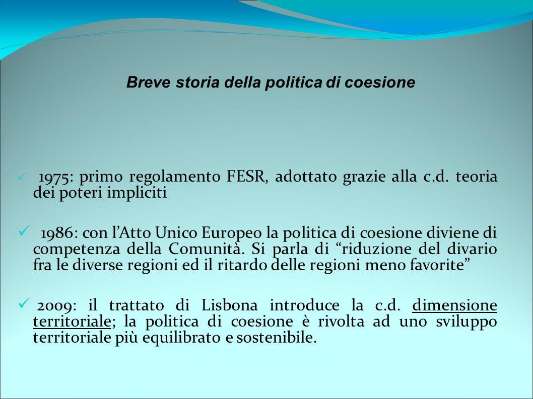 Breve storia della politica di coesione