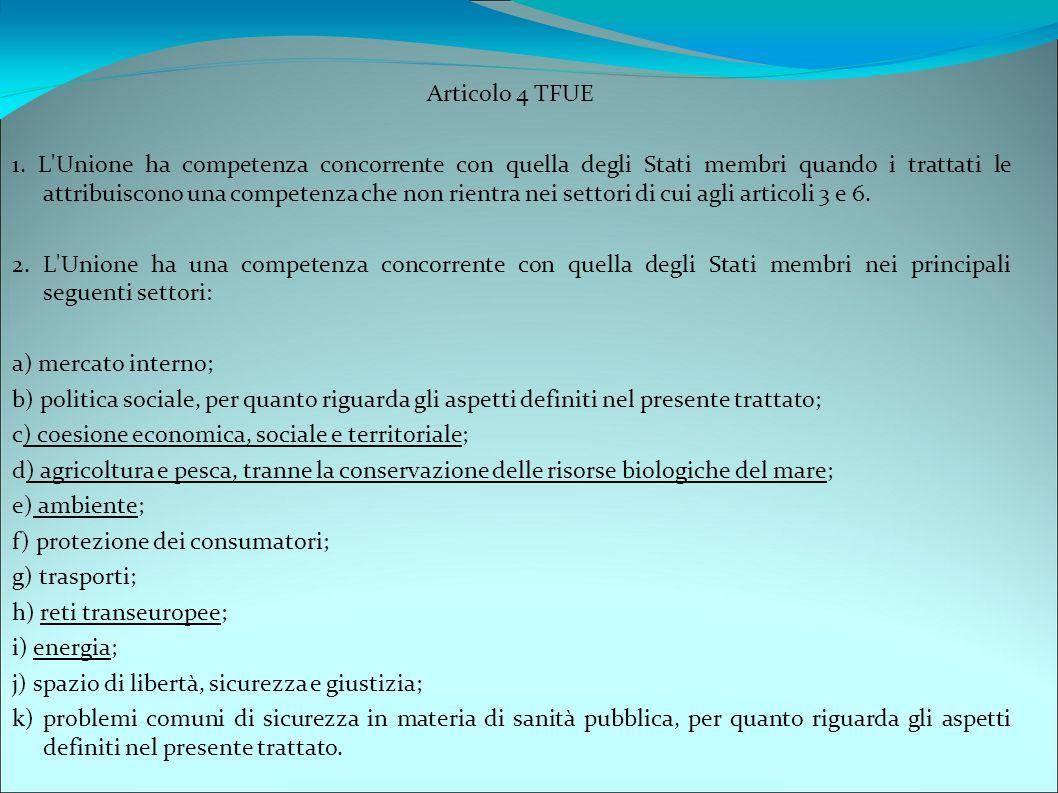 Articolo 4 TFUE