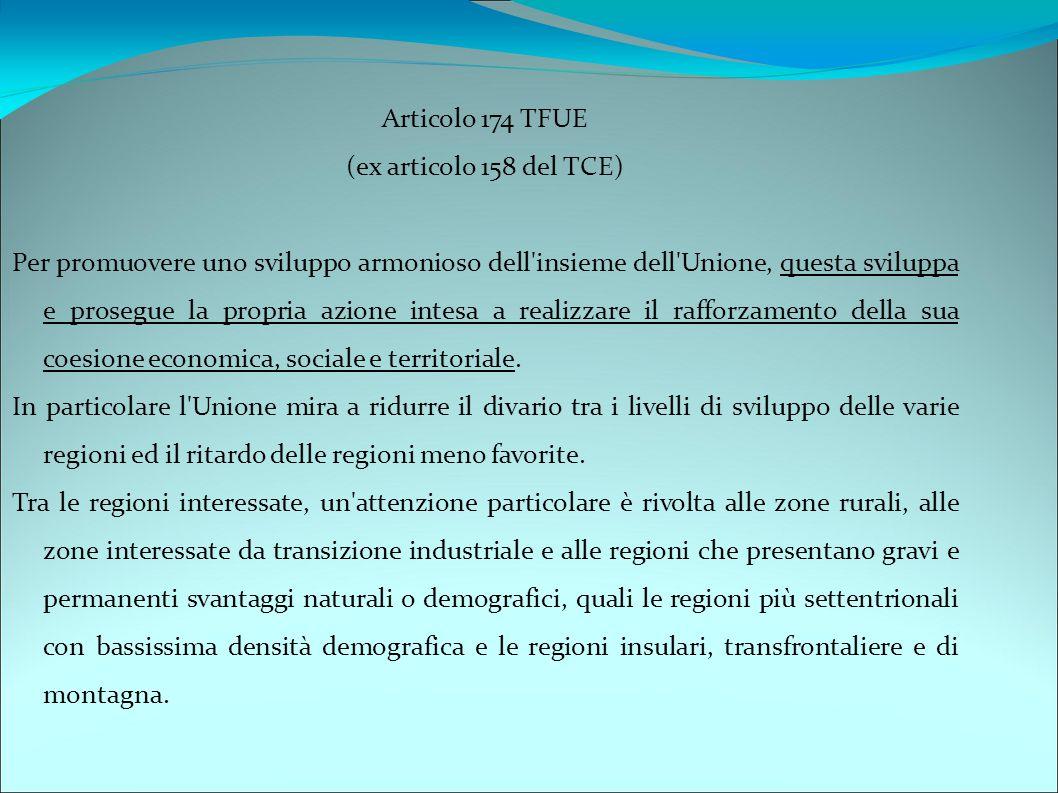 Articolo 174 TFUE (ex articolo 158 del TCE)