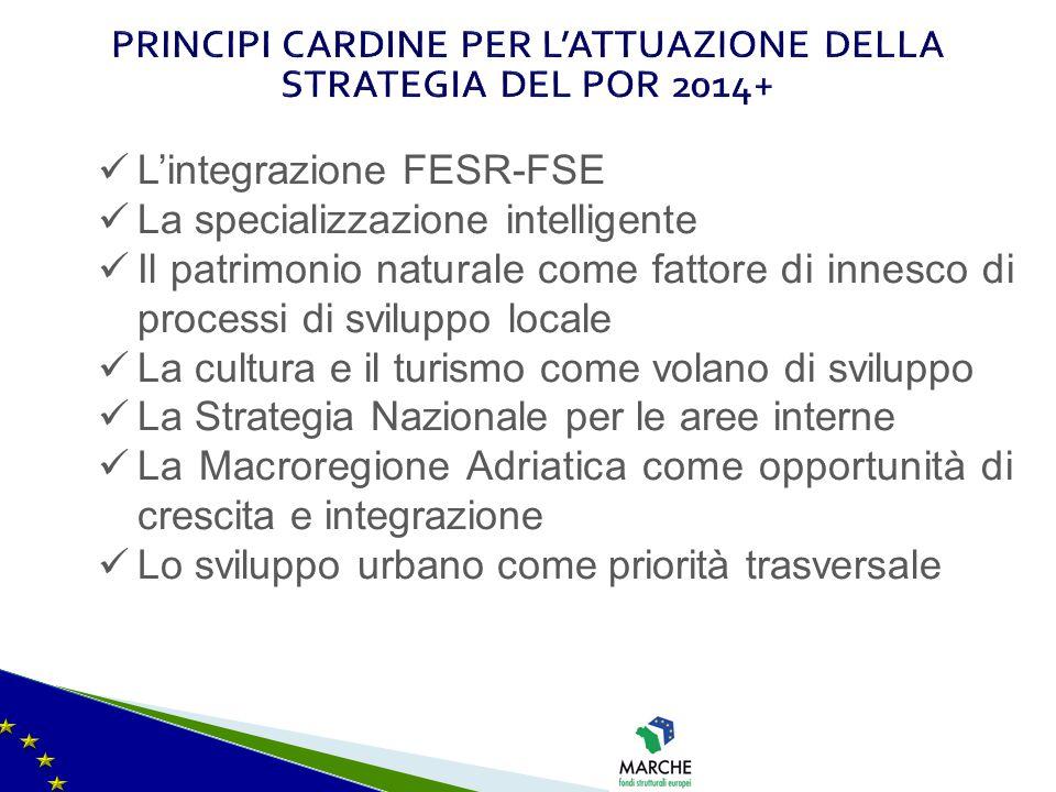 PRINCIPI CARDINE PER L'ATTUAZIONE DELLA STRATEGIA DEL POR 2014+