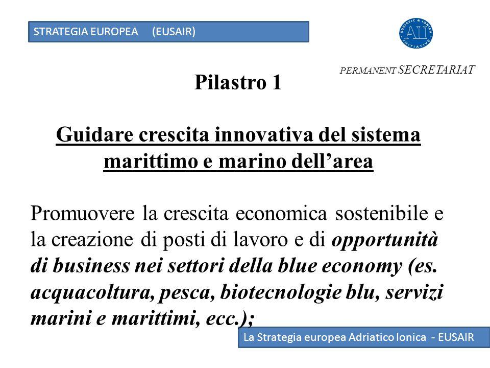 Guidare crescita innovativa del sistema marittimo e marino dell'area