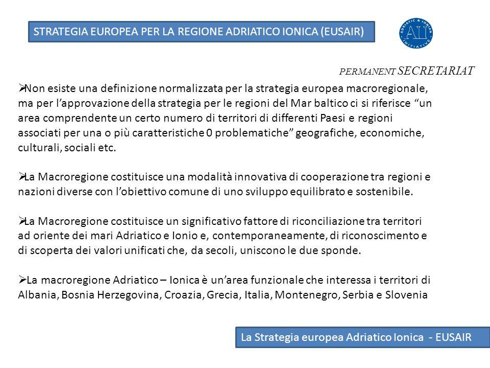 STRATEGIA EUROPEA PER LA REGIONE ADRIATICO IONICA (EUSAIR)