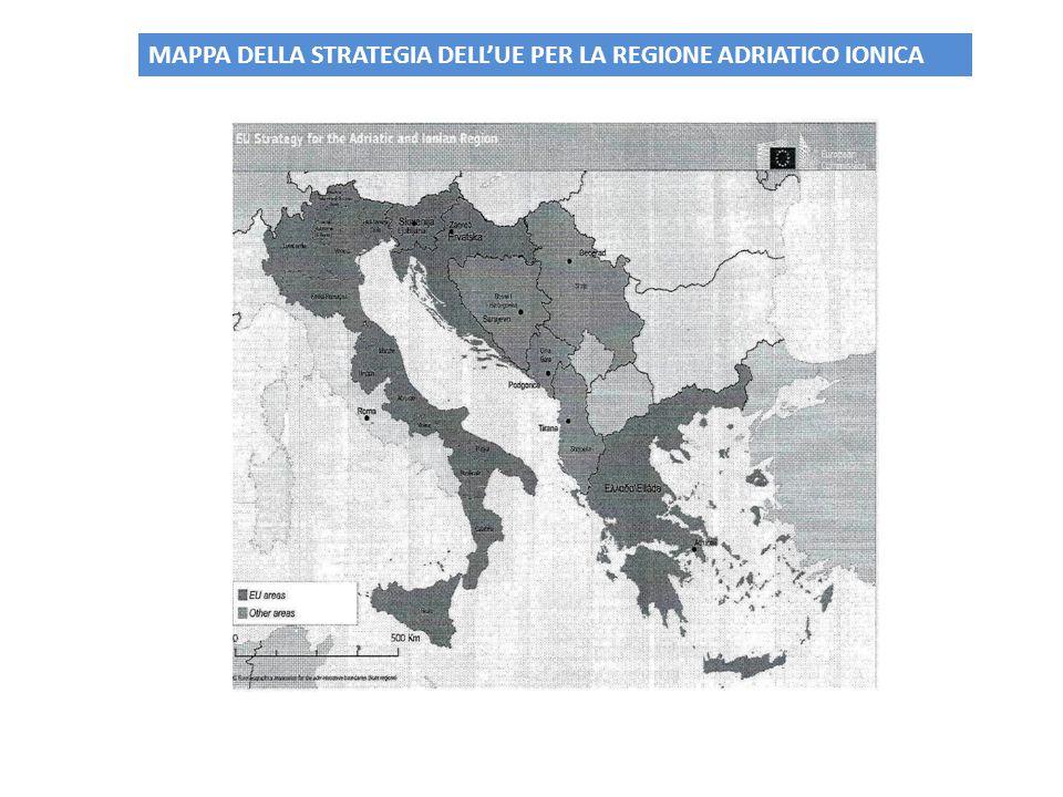 MAPPA DELLA STRATEGIA DELL'UE PER LA REGIONE ADRIATICO IONICA