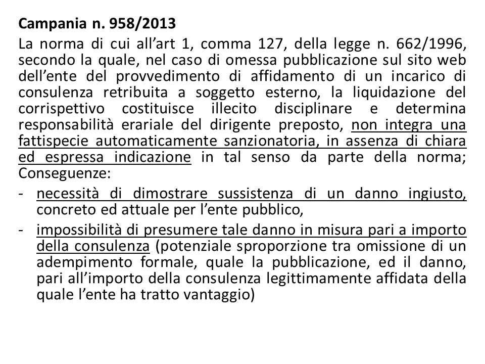 Campania n. 958/2013