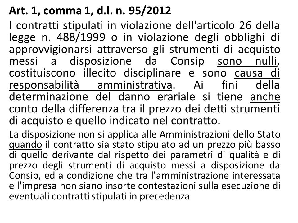 Art. 1, comma 1, d.l. n. 95/2012